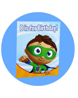 Kids birthday infanttoddler themes super why invitations filmwisefo